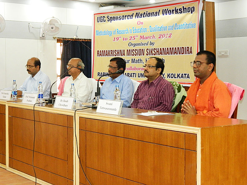 National Workshop on Research Methodology, 2012